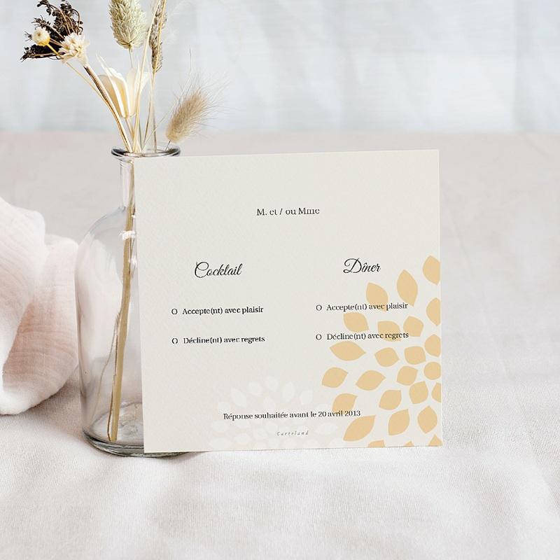 Carton Réponse Mariage Ambiance Provençale, invitation réponse pas cher
