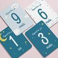 Carte Etape Bébé 1ère année, étoiles, bleu pas cher