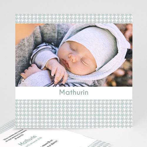Faire-Part Naissance classique - Tweed Boy 9089 thumb