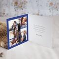 Carte Bonne Année Bleu Majorelle, Couronne dorée pas cher