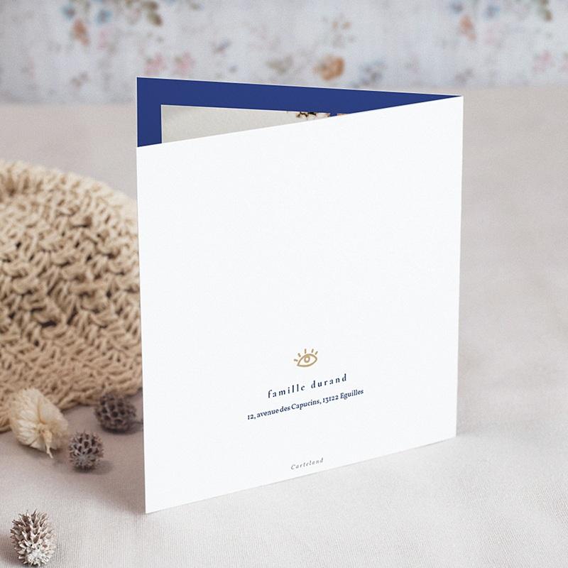 Carte Bonne Année Bleu Majorelle, Couronne dorée gratuit