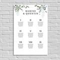 Plan Table Mariage Eucalyptus Floral, Poster