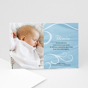 Remerciements Baptême Garçon - Ma carte bleue - 3