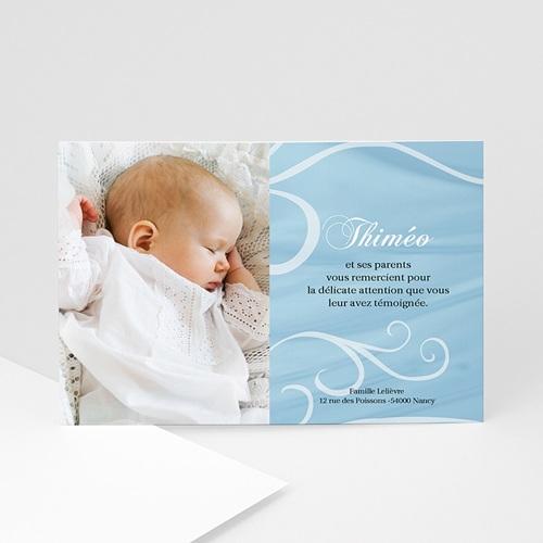 Carte Remerciement Baptême Garçon Merci Thiméo