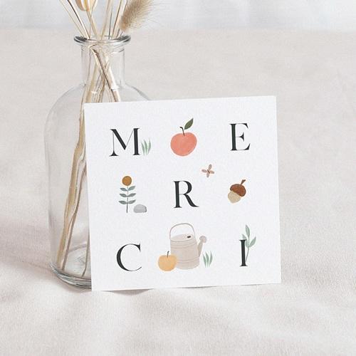 Carte Remerciement Naissance Fille Happy Pomme, 10 cm x 10 cm