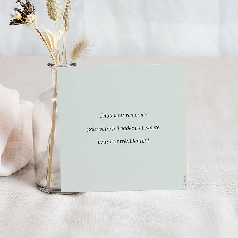 Carte Remerciement Naissance Fille Happy Pomme, 10 cm x 10 cm pas cher