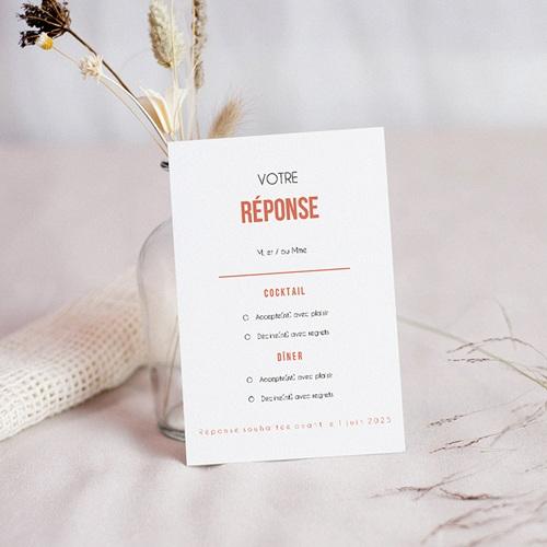 Carton Réponse Mariage Disque Vinyl, RSVP