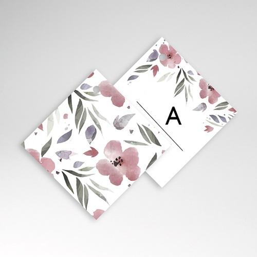 Etiquette Cadeau Mariage Fleurs romantiques, à nouer, 4,5 x 4,5 cm pas cher