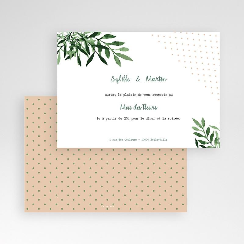 Carte Invitation Mariage Végétal, Cocktail & Soirée pas cher