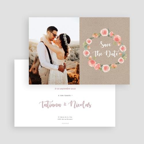 Save The Date Mariage Diadème Floral, Photo gratuit