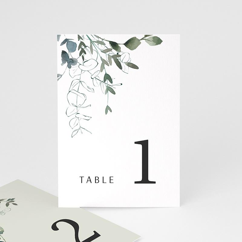 Marque Table Mariage Eucalyptus Floral, Marque-table, Lot de 3