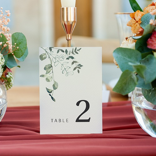 Marque Table Mariage Eucalyptus Floral, Marque-table, Lot de 3 gratuit