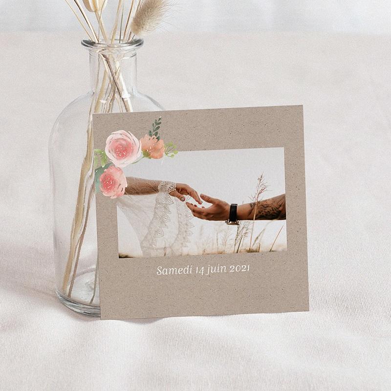 Carte Invitation Mariage Diadème Floral, Cocktail & Soirée dansante