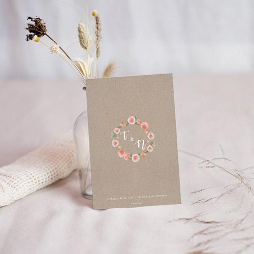 Carton Réponse Mariage Diadème Floral, RSVP pas cher