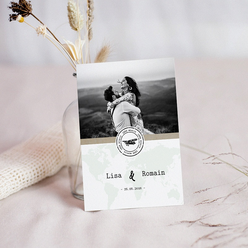 Carte Invitation Mariage Time to Love, Vin d'honneur, Photo