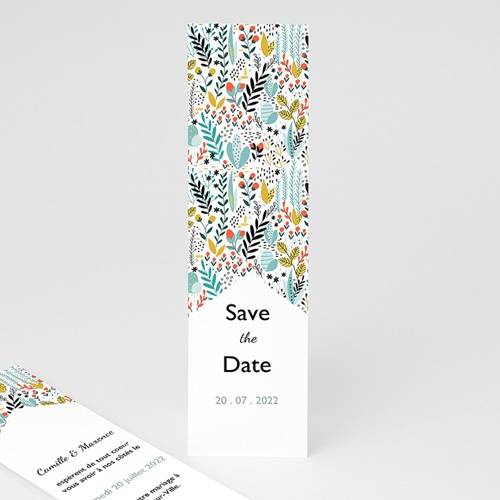 Save The Date Mariage Liberty Prairie sauvage, marque-page