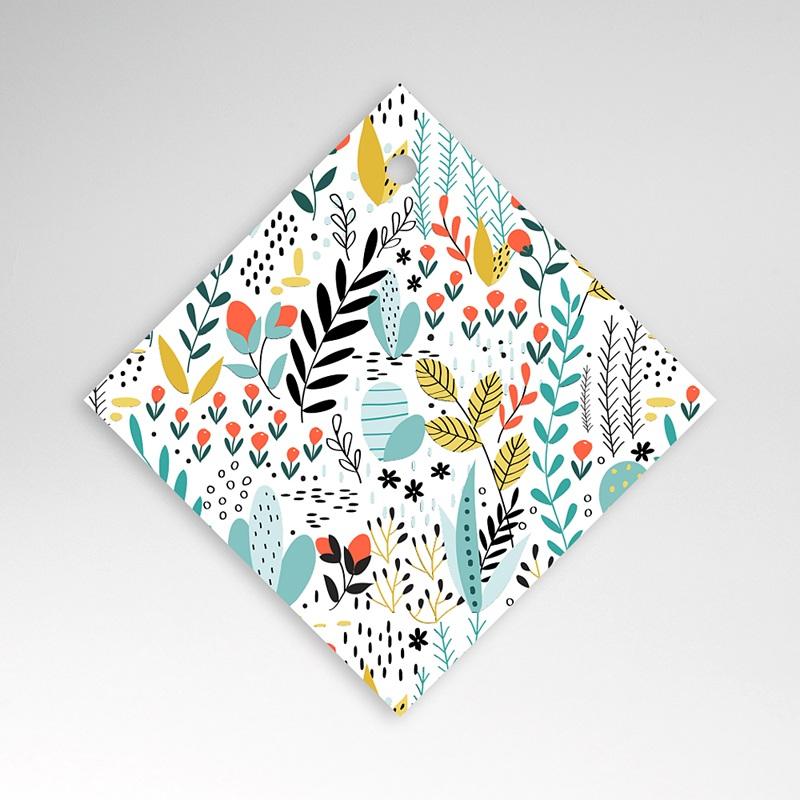 Etiquette Cadeau Mariage Liberty Prairie sauvage, à nouer, 4,5 x 4,5 cm