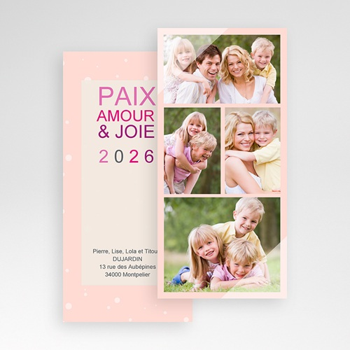 Cartes Multi-photos 3 & + - 4 photos - Voeux poudrés 9126 preview