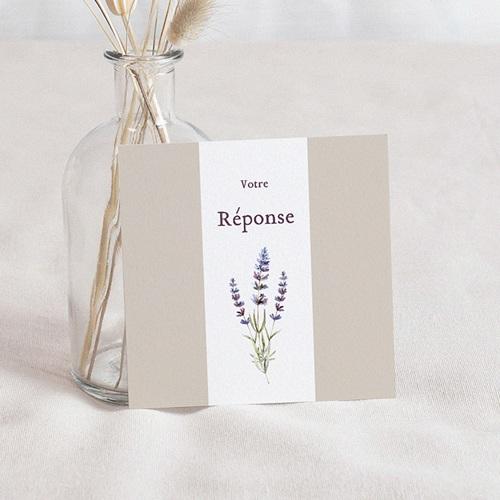Carton Réponse Mariage Bouquet de Lavande, Rsvp
