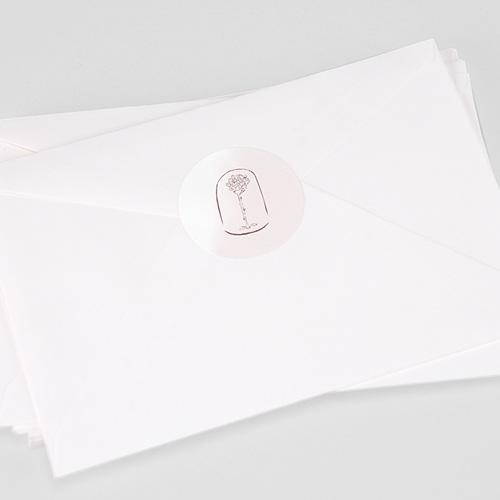 Etiquette Autocollante Naissance La plus jolie des roses, Sticker enveloppes