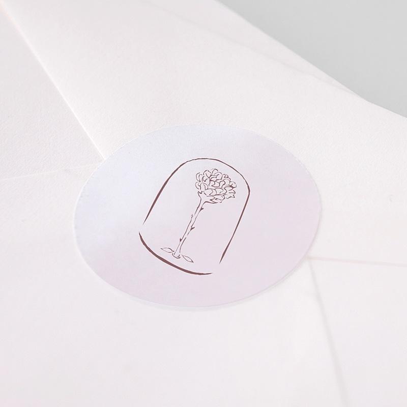 Etiquette Autocollante Naissance La plus jolie des roses, Sticker enveloppes pas cher