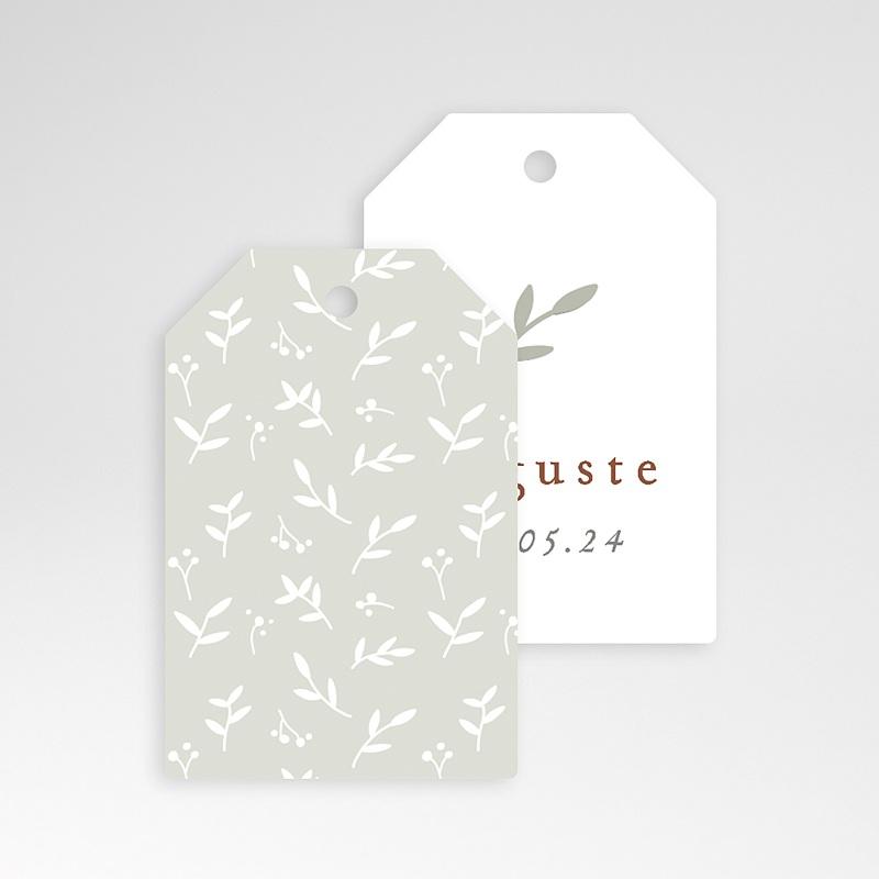 Etiquette Cadeau Naissance Brin de Bonheur, perforée, 6 x 4 cm pas cher