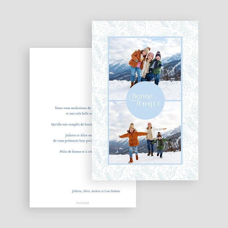 Carte de Voeux Gelée Hivernale, 2 photos gratuit