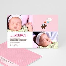 Carte remerciement naissance fille Célestine