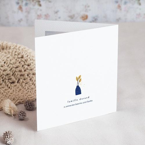 Carte de Voeux Vases bleus, Fleurs dorées gratuit