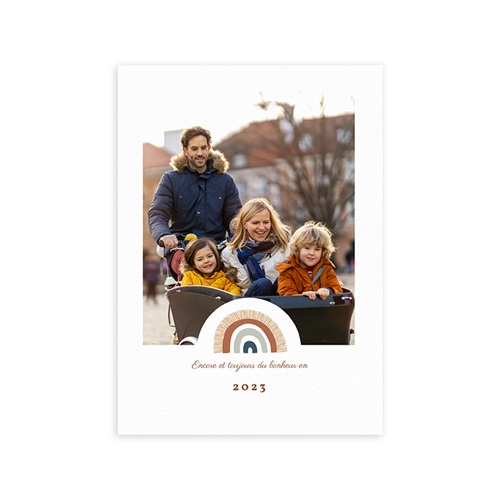 Carte de Voeux Rainbow Wish, Double volet, 3 Photos