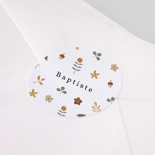 Etiquette Autocollante Naissance Nature d'automne, Sticker enveloppes pas cher