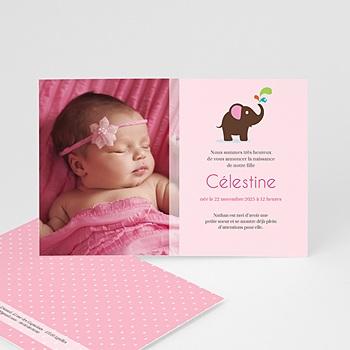 Faire-part de naissance fille Eléphantine