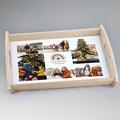 Plateau Personnalisé Photo Rainbow Wish, 6 Photos, 35 x 48 cm
