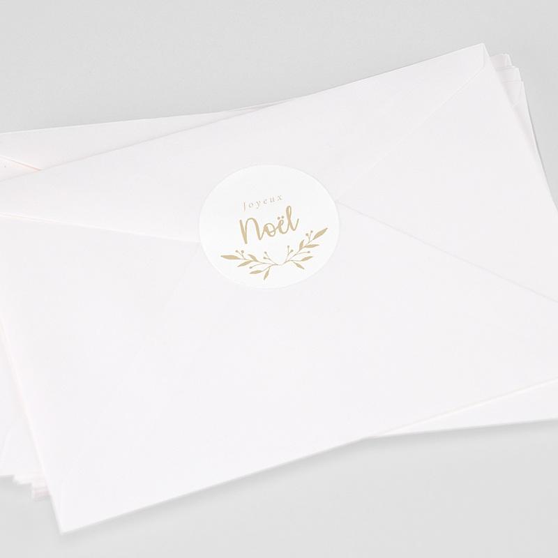 Etiquette Noël Sticker de Noel floral