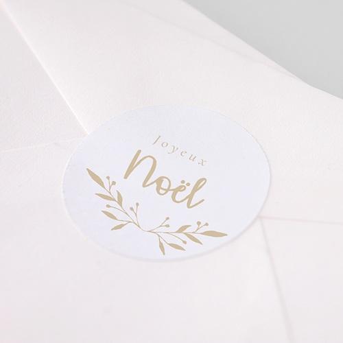 Etiquette Noël Sticker de Noel floral pas cher