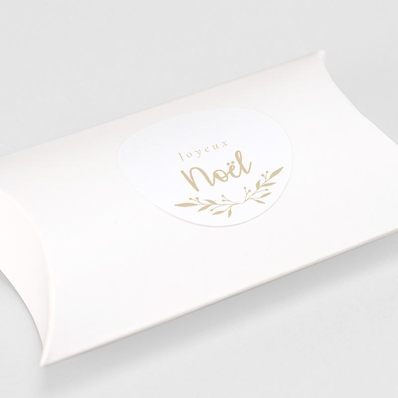 Etiquette Noël Sticker de Noel floral gratuit