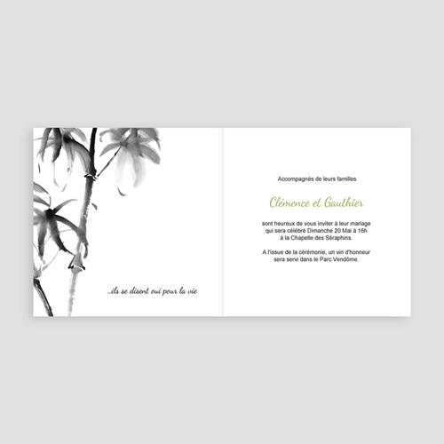 Faire-Part Mariage Personnalisés - Aquarelle Chinoise 9146 preview