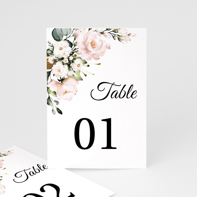 Marque Table Mariage Bouquet Romantique Kraft, Lot de 3