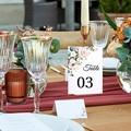 Marque Table Mariage Bouquet Romantique Kraft, Lot de 3 pas cher