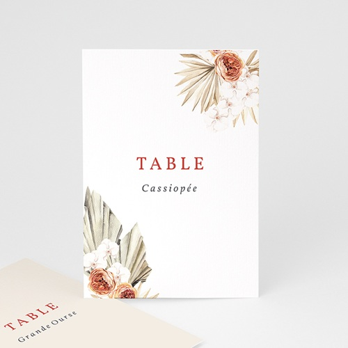 Marque Table Mariage Fleurs séchées, Bohème, lot de 3