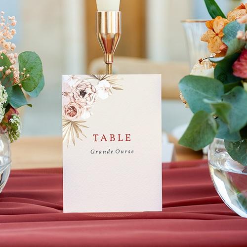 Marque Table Mariage Fleurs séchées, Bohème, lot de 3 gratuit