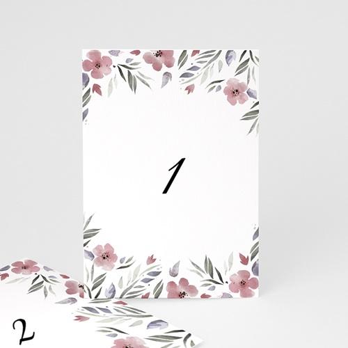 Marque Table Mariage Fleurs romantiques, Lot de 3 pcs