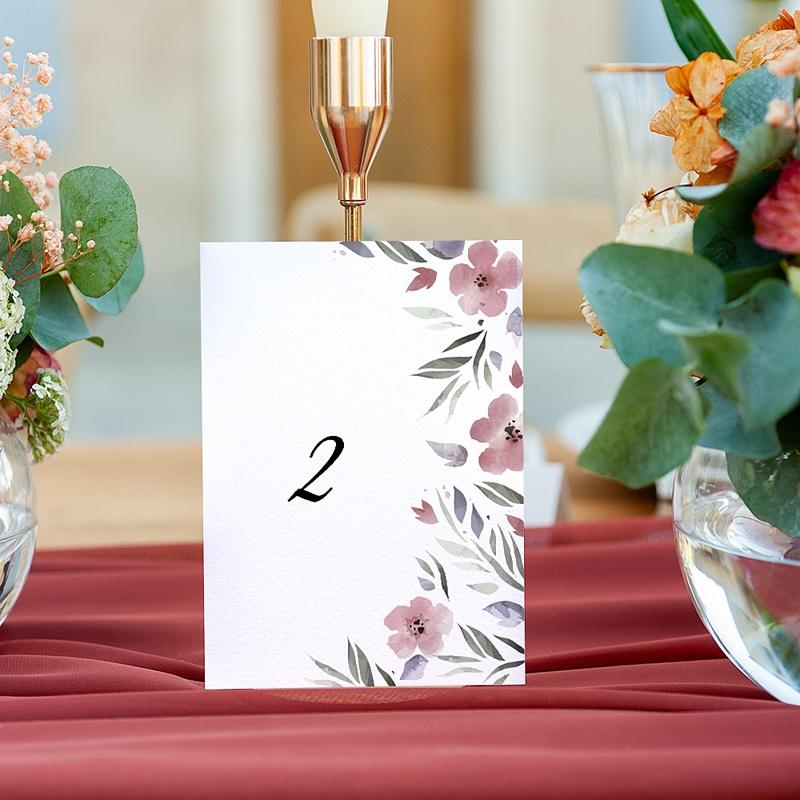 Marque Table Mariage Fleurs romantiques, Lot de 3 pcs gratuit