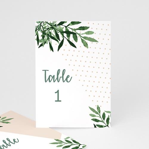 Marque Table Mariage Végétal, Lot de 3 repères de table