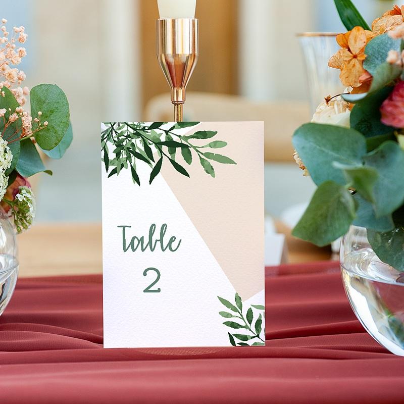Marque Table Mariage Végétal, Lot de 3 repères de table gratuit