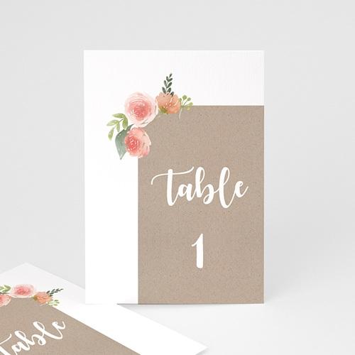 Marque Table Mariage Diadème Floral, Lot de 3 repères