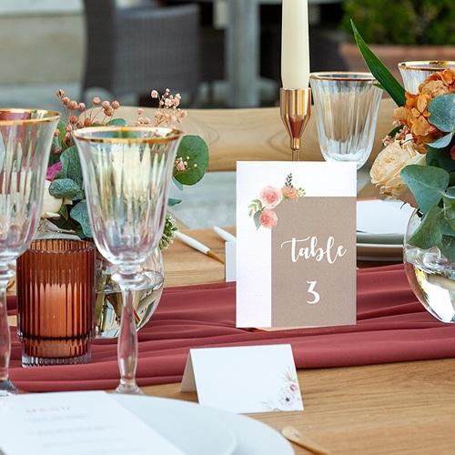 Marque Table Mariage Diadème Floral, Lot de 3 repères pas cher