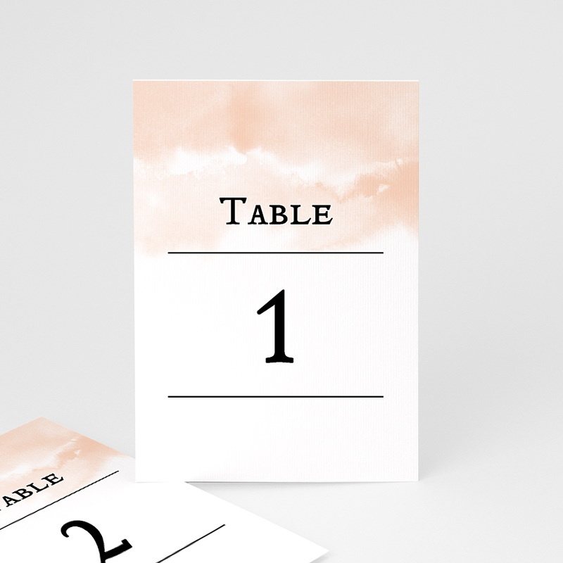 Marque Table Mariage Aquarello, Lot de 3 repères de table