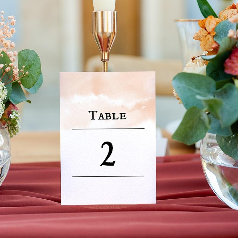 Marque Table Mariage Aquarello, Lot de 3 repères de table gratuit