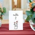 Marque Table Mariage 2 Coeurs, Lot de 3 repères de table gratuit
